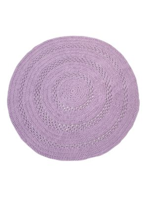 peony lavender crochet cotton rug medium