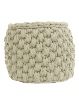 peony off-white crochet cotton basket small