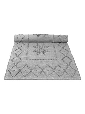 star light grey woven cotton rug medium