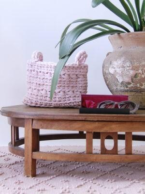 styling basket powder pink