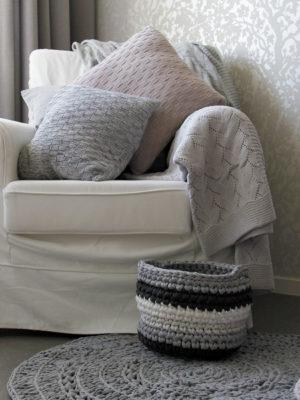 styling gehaakt groovy basket grijs