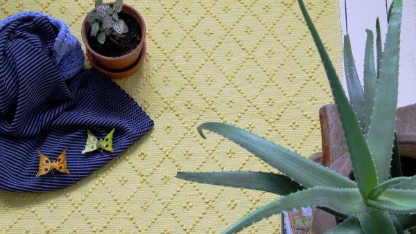 styling lemon yellow and plants