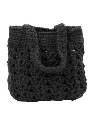 arab anthracite crochet woolen bag
