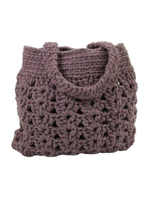 arab violet crochet woolen bag