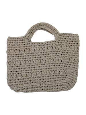 basic ecru crochet cotton shopper