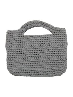 basic grey crochet cotton shopper