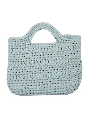 basic heavenly blue crochet cotton shopper