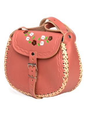 basic old rose leather bag medium