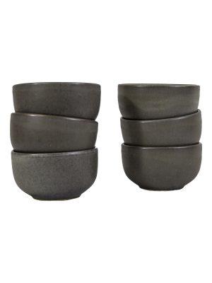 bowl charcoal mat ceramic medium