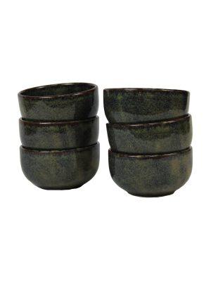 bowl ochre glaze ceramic medium