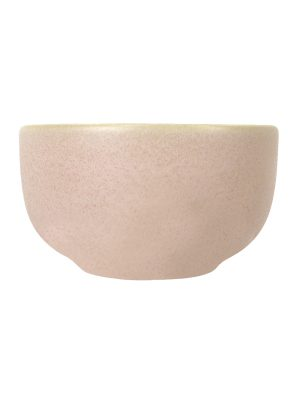 bowl powder rose mat ceramic medium