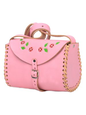 cloud baby pink leather bag large