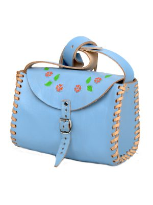 cloud heavenly blue leather bag large