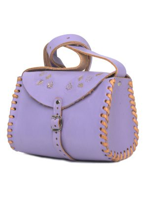 cloud lila leather bag large