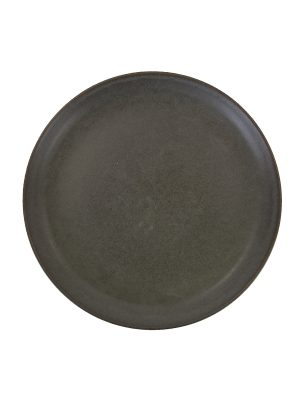 dessert plate charcoal mat ceramic medium