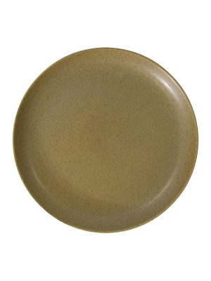 dessert plate mustard mat ceramic medium