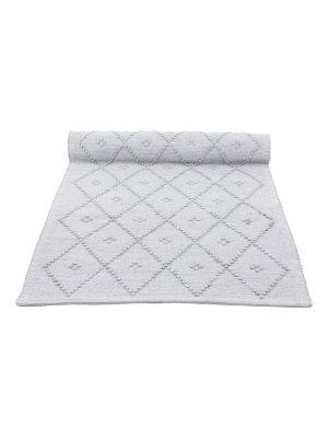 diamond bebble grey woven cotton floor runner large