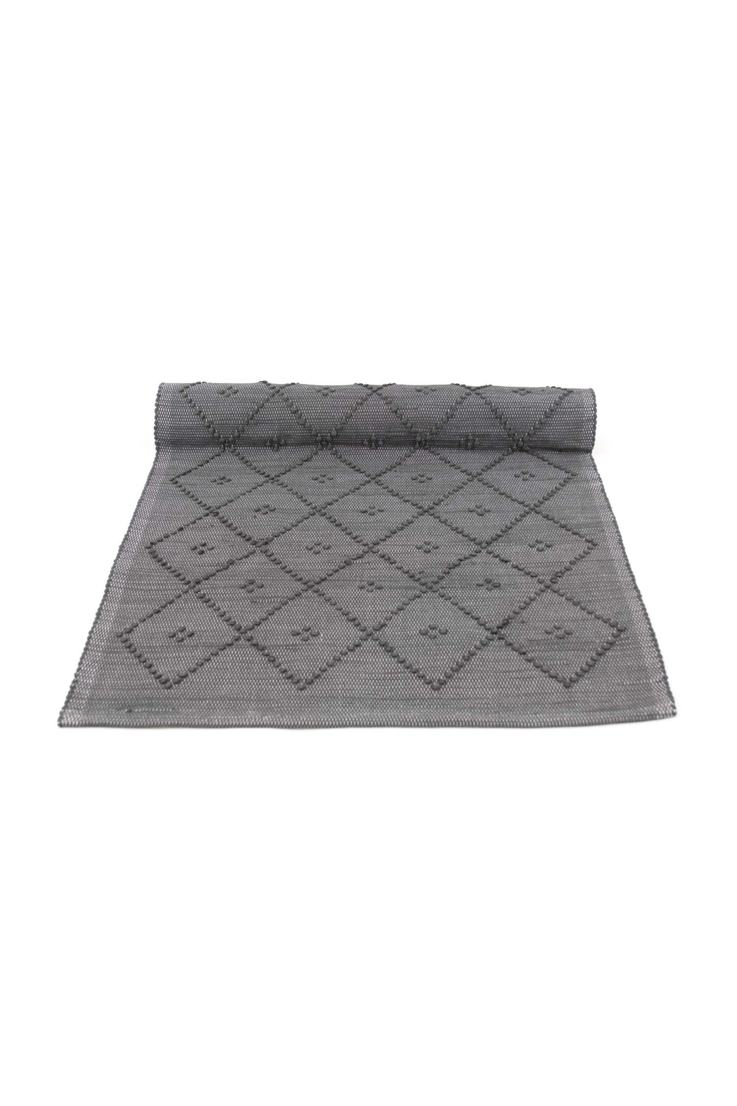 Diamond Grey Woven Cotton Floor Runner