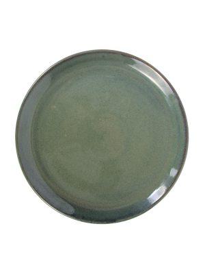dinner plate celadon glaze ceramic xlarge