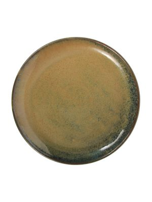 dinner plate ochre glaze ceramic xlarge