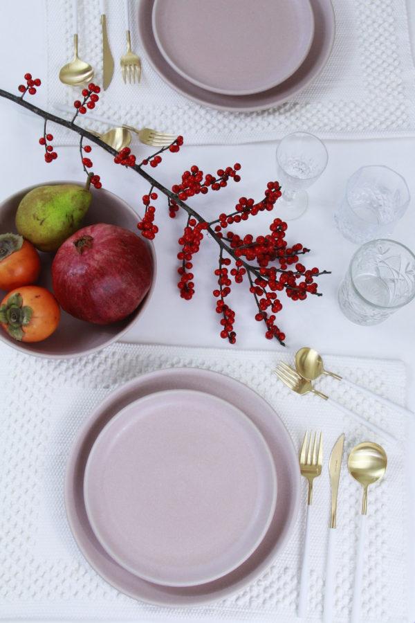 dinner plate powder rose mat ceramic xlarge