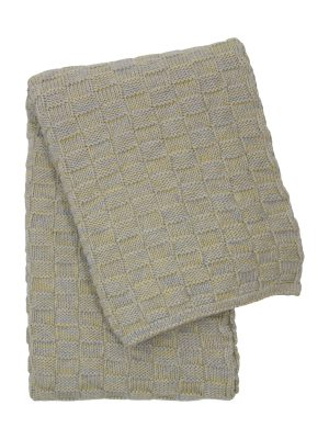 drops mêlée citrus knitted cotton little blanket medium