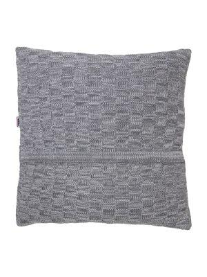 drops mêlée grey knitted cotton pillowcase xsmall