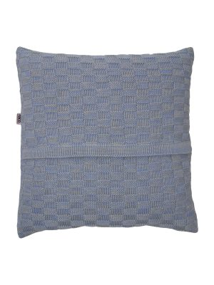 drops mêlée heavenly blue knitted cotton pillowcase xsmall