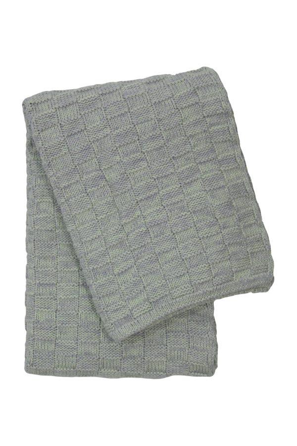 drops mêlée mint knitted cotton little blanket medium