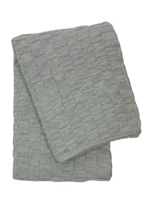 drops mêlée mint knitted cotton little blanket small