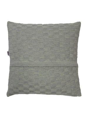 drops mêlée mint knitted cotton pillowcase xsmall