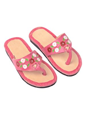 flor baby pink leather flipflop kids xsmall