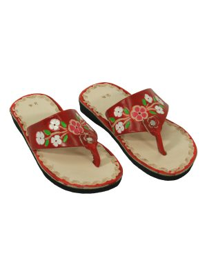 flor chillipepper leather flipflop small