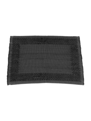 frame anthracite woven cotton placemat small