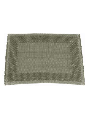 frame olive green woven cotton placemat small