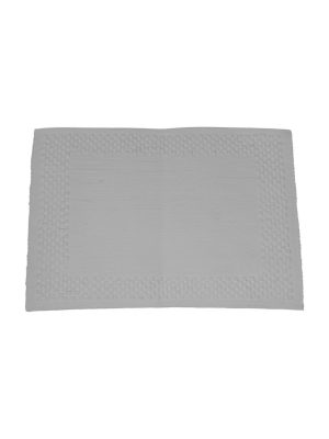 frame white woven cotton placemat small