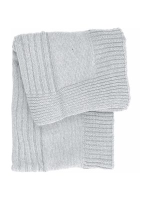 lilly white knitted cotton little blanket small