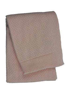 liz baby pink knitted cotton little blanket small