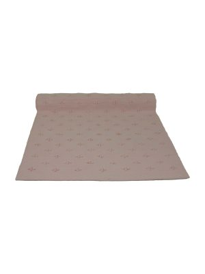 liz baby pink woven cotton floor mat small
