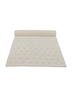 liz ecru woven cotton floor mat small