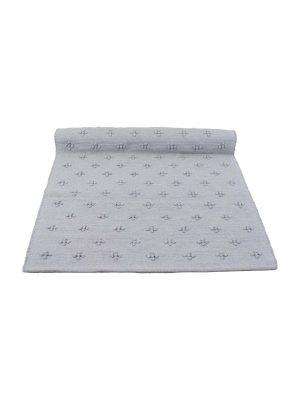 liz light grey woven cotton floor mat small