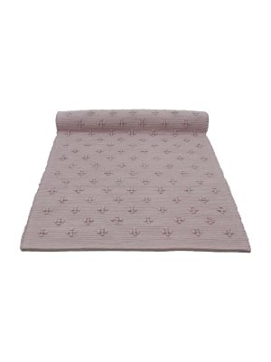 liz old rose woven cotton floor mat small