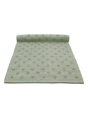 liz olive green woven cotton floor runner large
