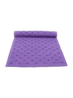liz purple woven cotton floor mat small
