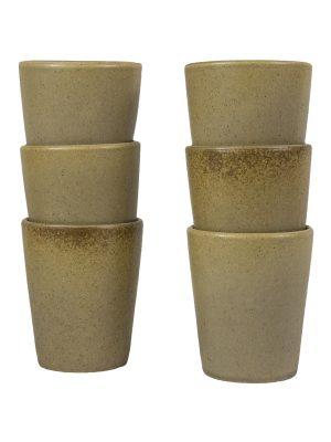 mug mustard mat ceramic large