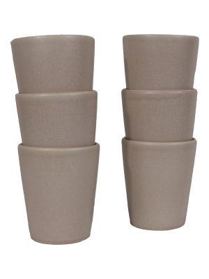 mug powder rose mat ceramic large