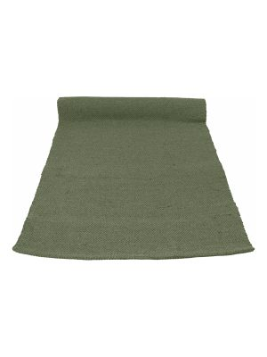 nordic olive green woven cotton floor runner large