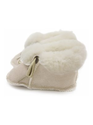 peetypeety blush rose suede sheepfur babouche small