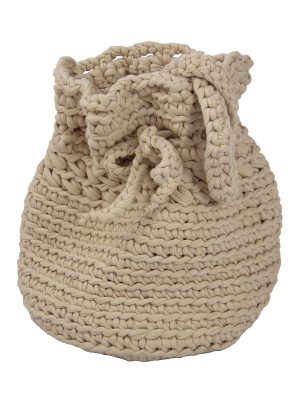 peludo linen crochet cotton bag