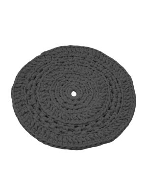 peony anthracite crochet cotton placemat small